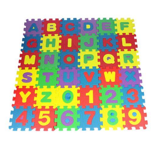 36Pcs EVA Foam Mat Baby Soft EVA Foam Play Mat Numbers Letters Playing Crawling Pad Toys 5