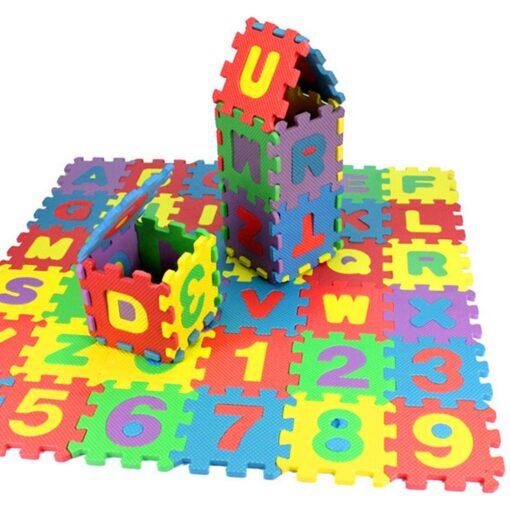 36Pcs EVA Foam Mat Baby Soft EVA Foam Play Mat Numbers Letters Playing Crawling Pad Toys