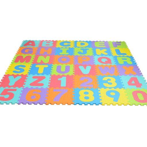 36pcs Colourful Kids Rug Play Mat Children Alphabet Letters Numerals Puzzle Soft Floor Crawling Puzzle Kids 1