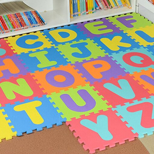 36pcs Colourful Kids Rug Play Mat Children Alphabet Letters Numerals Puzzle Soft Floor Crawling Puzzle Kids 4