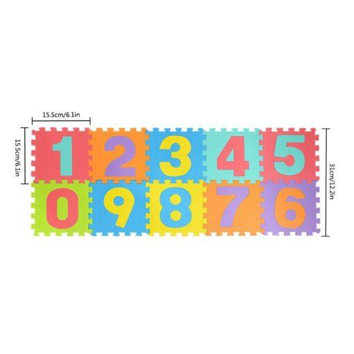 36pcs Colourful Kids Rug Play Mat Children Alphabet Letters Numerals Puzzle Soft Floor Crawling Puzzle Kids 5
