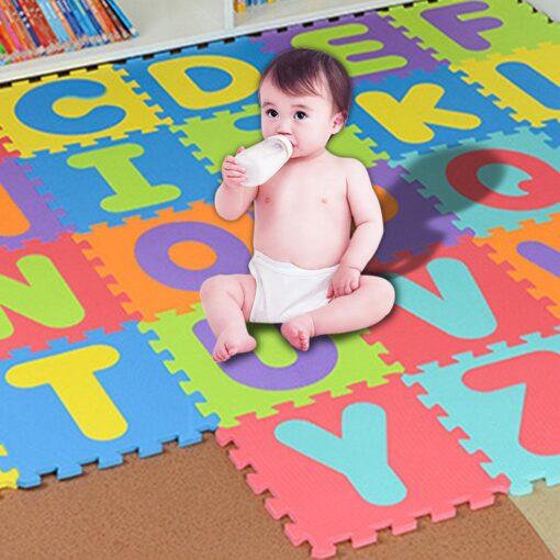 36pcs Colourful Kids Rug Play Mat Children Alphabet Letters Numerals Puzzle Soft Floor Crawling Puzzle Kids