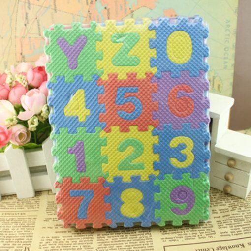 36pcs set Alphanumeric Letter Bath Puzzle EVA Kids Baby Toys New Early Educational Kids Bath Funny 1