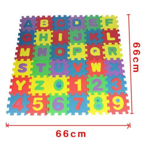 36pcs set Alphanumeric Letter Bath Puzzle EVA Kids Baby Toys New Early Educational Kids Bath Funny 4