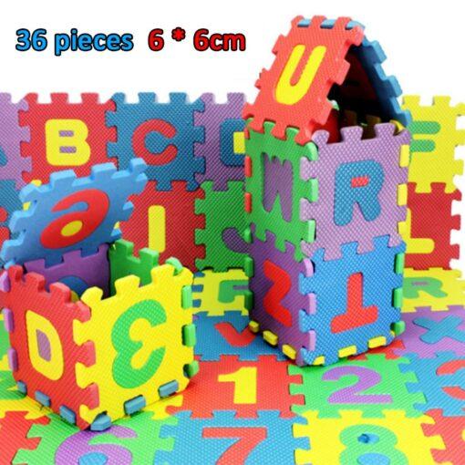 36pcs set Alphanumeric Letter Bath Puzzle EVA Kids Baby Toys New Early Educational Kids Bath Funny