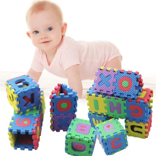 36pcs set Mini Puzzles Soft EVA Foam Mat Kids Learning Education Toy Digital Alphabet Letters Alphabetical 1