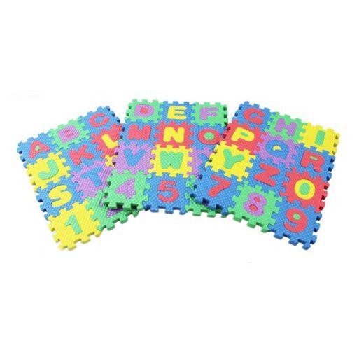 36pcs set Mini Puzzles Soft EVA Foam Mat Kids Learning Education Toy Digital Alphabet Letters Alphabetical 3