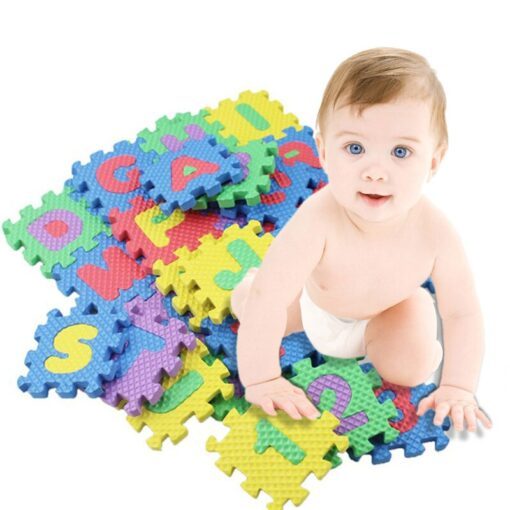 36pcs set Mini Puzzles Soft EVA Foam Mat Kids Learning Education Toy Digital Alphabet Letters Alphabetical 5
