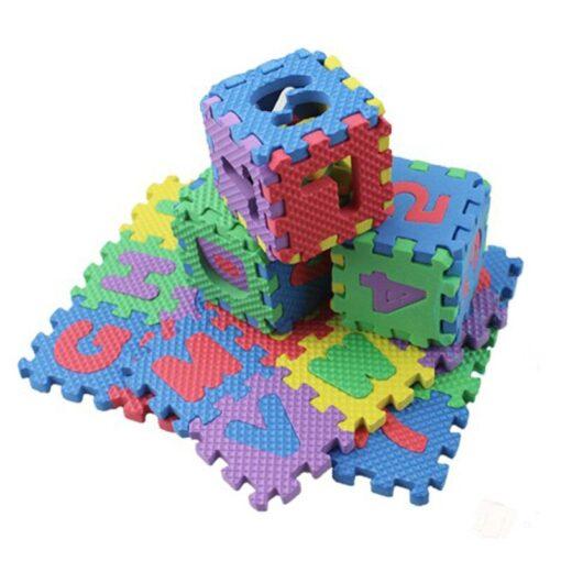36pcs set Mini Puzzles Soft EVA Foam Mat Kids Learning Education Toy Digital Alphabet Letters Alphabetical