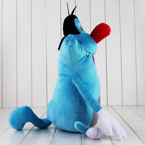 38cm French Cartoon Oggy and the Cockroaches Plush Toy Fat Cat Oggy Stuffed Animal Doll Gift 2