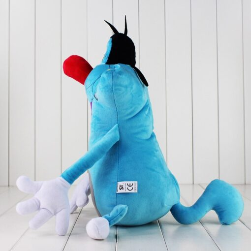 38cm French Cartoon Oggy and the Cockroaches Plush Toy Fat Cat Oggy Stuffed Animal Doll Gift 3