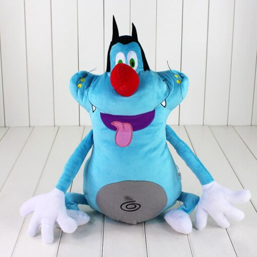 38cm French Cartoon Oggy and the Cockroaches Plush Toy Fat Cat Oggy Stuffed Animal Doll Gift