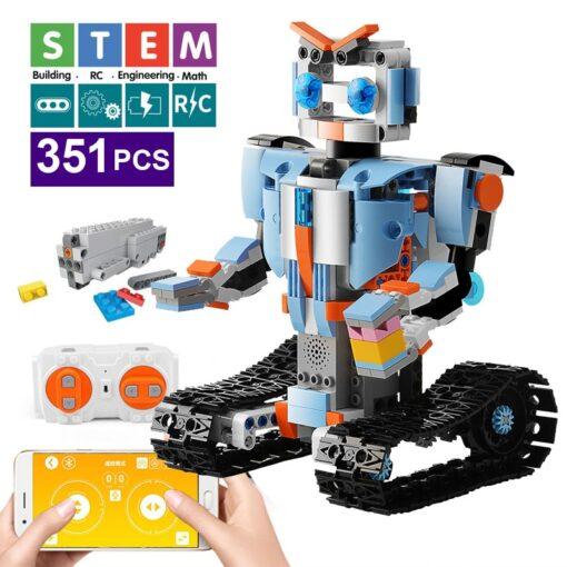 392PCS Creative Electric Remote Control Machinery Building Blocks legoINGlys Technic RC Robot Bricks Toys Hobbies For 1