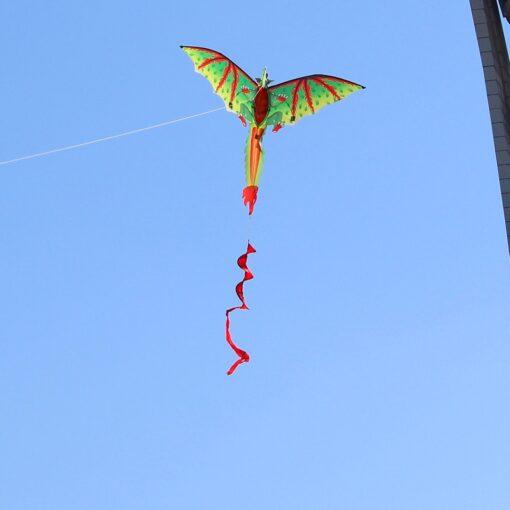 3D Dragon 100M Kite Flying Single Line With Tail Kites Outdoor Children Fun Toy Kite Family 3