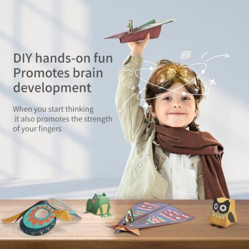3D Paper cut Educational Origami Paper Cutting Book Crafts Children Handmade Toys Kindergarten Fun Puzzle Baby 2