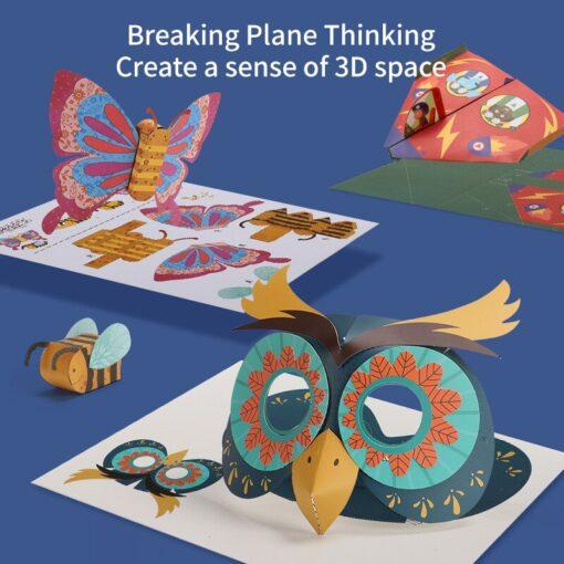 3D Paper cut Educational Origami Paper Cutting Book Crafts Children Handmade Toys Kindergarten Fun Puzzle Baby 3