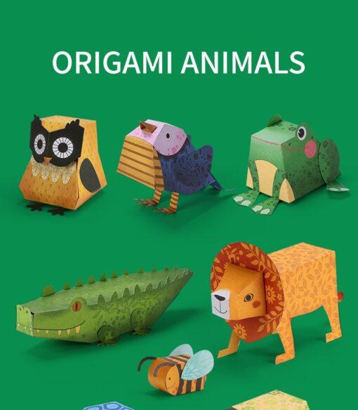 3D Paper cut Educational Origami Paper Cutting Book Crafts Children Handmade Toys Kindergarten Fun Puzzle Baby