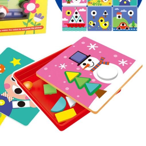 3D Puzzles Toys For Children Creative Mosaic Mushroom Nail Kit Buttons Art Assembling Kids Enlightenment Educational 1