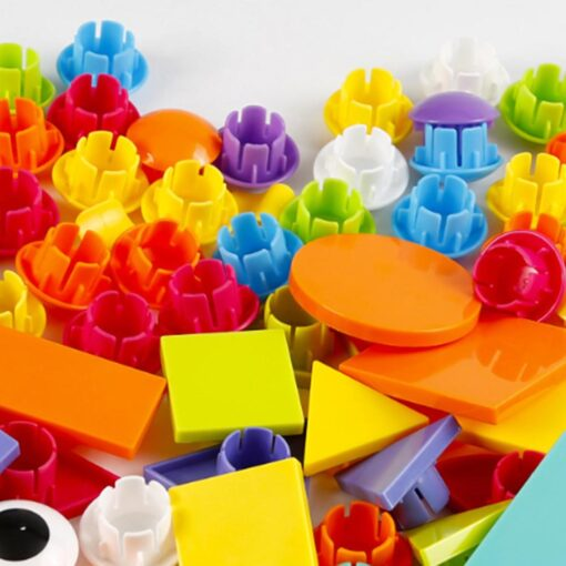 3D Puzzles Toys For Children Creative Mosaic Mushroom Nail Kit Buttons Art Assembling Kids Enlightenment Educational 5