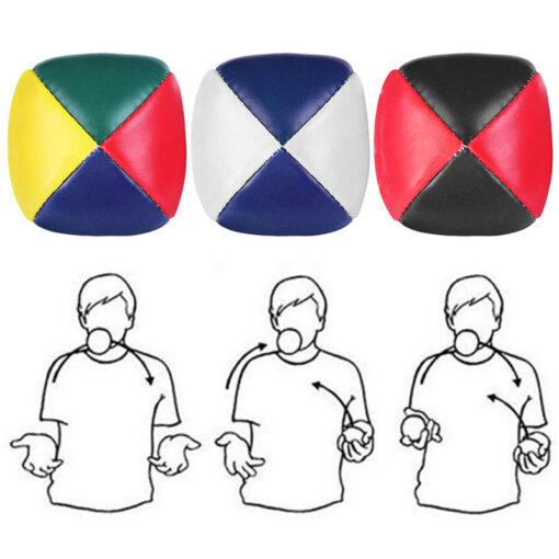 3PCS Net Set Suit Professional Juggling Ball Acrobatics Toss Ball Educational Toy Children Fun Sports Pu 2