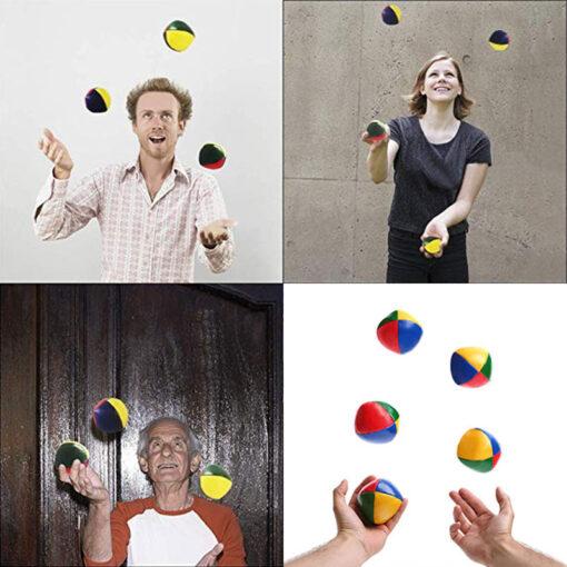 3PCS Net Set Suit Professional Juggling Ball Acrobatics Toss Ball Educational Toy Children Fun Sports Pu 3