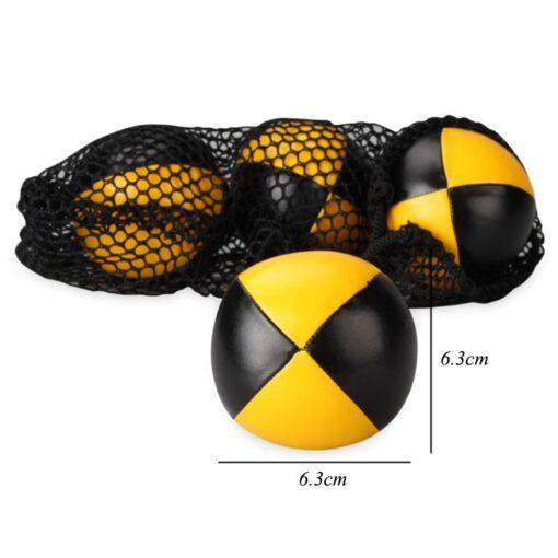 3PCS Net Set Suit Professional Juggling Ball Acrobatics Toss Ball Educational Toy Children Fun Sports Pu 5