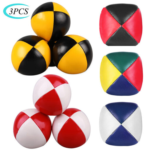 3PCS Net Set Suit Professional Juggling Ball Acrobatics Toss Ball Educational Toy Children Fun Sports Pu