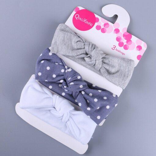 3Pcs Elastic Children Headband Cute Floral Bow baby headbands Girl Hair accessories Rabbit Ears hair bands 5
