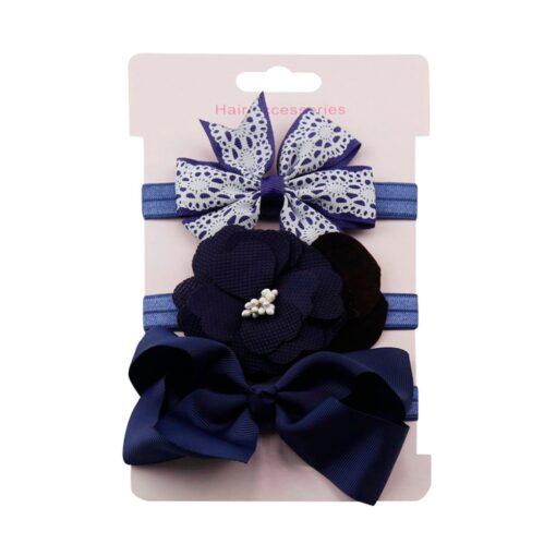 3Pcs Kids Elastic Flower Headband Headbands Hair Girls Baby Bowknot Hairband Baby Girl Accessories Set Dropshipping 3