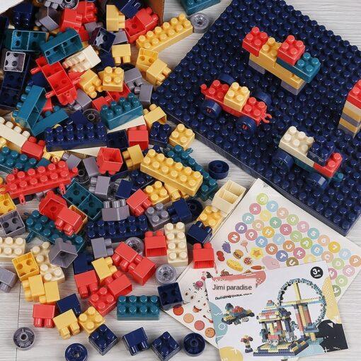 3WBOX Big Size DIY Construction Compatible Duploed Building Bricks Plastic Assembly Building Blocks Toys For Children 1