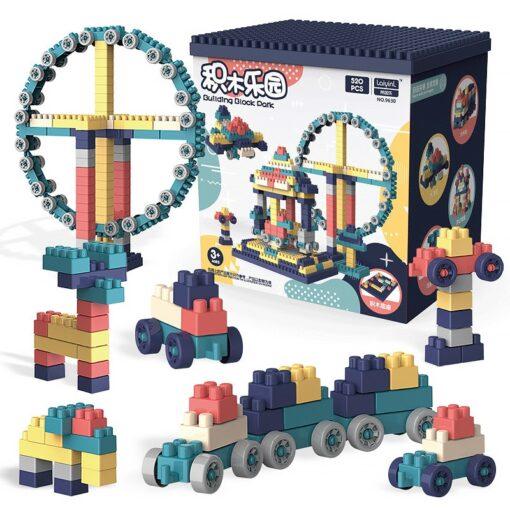 3WBOX Big Size DIY Construction Compatible Duploed Building Bricks Plastic Assembly Building Blocks Toys For Children 3