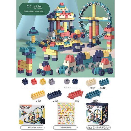 3WBOX Big Size DIY Construction Compatible Duploed Building Bricks Plastic Assembly Building Blocks Toys For Children 4