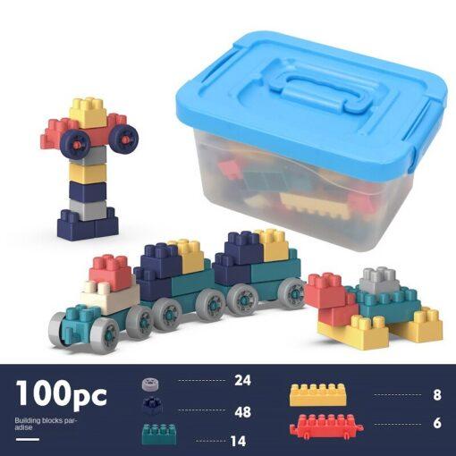 3WBOX Big Size DIY Construction Compatible Duploed Building Bricks Plastic Assembly Building Blocks Toys For Children 5