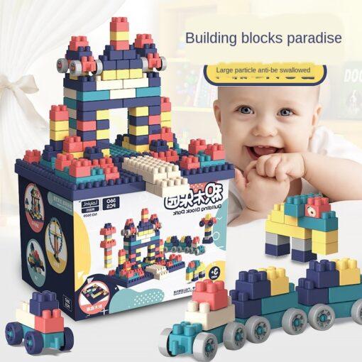3WBOX Big Size DIY Construction Compatible Duploed Building Bricks Plastic Assembly Building Blocks Toys For Children