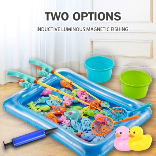 3WBOX Children Boy girl fishing toy set suit magnetic play water baby toys fish square hot 3