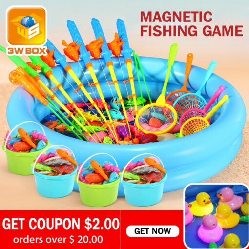 3WBOX Magnetic toy fish swimming play water pool Parent child interactive outdoor toys for children 3