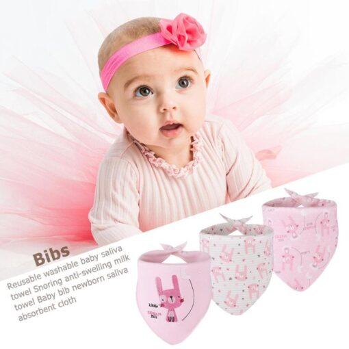 3pcs Set Newborn Baby Saliva Towel Adjustable Infant Bibs Burp Cloth Reusable Baby Triangle Bibs Washable 1