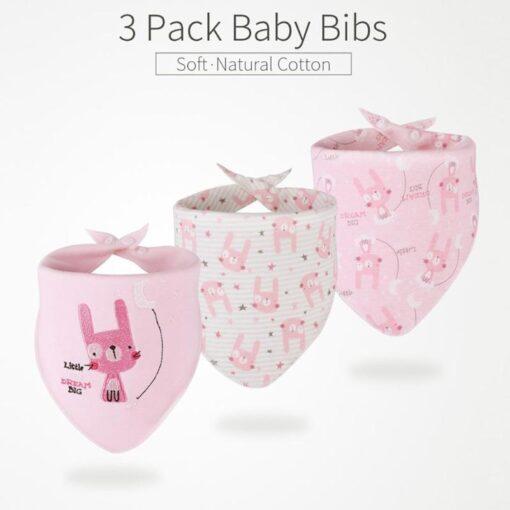 3pcs Set Newborn Baby Saliva Towel Adjustable Infant Bibs Burp Cloth Reusable Baby Triangle Bibs Washable 3