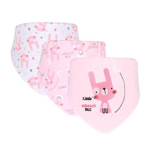 3pcs Set Newborn Baby Saliva Towel Adjustable Infant Bibs Burp Cloth Reusable Baby Triangle Bibs Washable 4