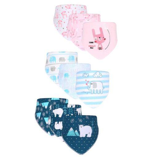 3pcs Set Newborn Baby Saliva Towel Adjustable Infant Bibs Burp Cloth Reusable Baby Triangle Bibs Washable