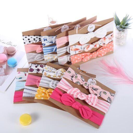 3pcs lot baby girl headband for newborn hair band elastic babies accessories cotton headwear hair bands 3