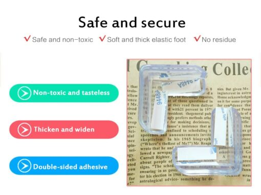 4 1pc set Baby Silicone Safety Protector Table Corner Anticollision Furnitures Edge Guards Cover Durable L 2