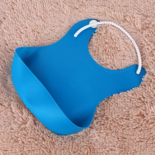 4 Colors Baby Waterproof Feeding Bibs Newborn Baby Food Saliva Pocket Silicone Bibs Burp Cloth Towel 4