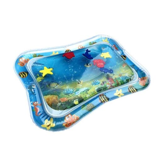 4 Designs Baby Kids Water Play Mat Inflatable Infant Tummy Time Playmat Toddler for Baby Fun 1