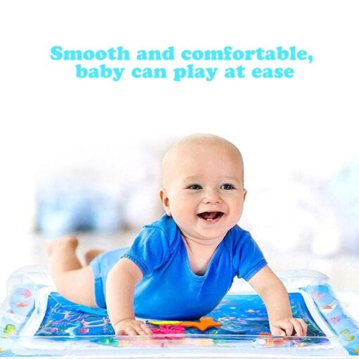 4 Designs Baby Kids Water Play Mat Inflatable Infant Tummy Time Playmat Toddler for Baby Fun 2