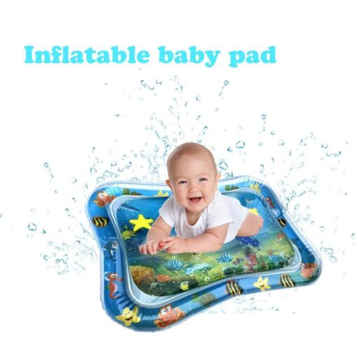 4 Designs Baby Kids Water Play Mat Inflatable Infant Tummy Time Playmat Toddler for Baby Fun 3
