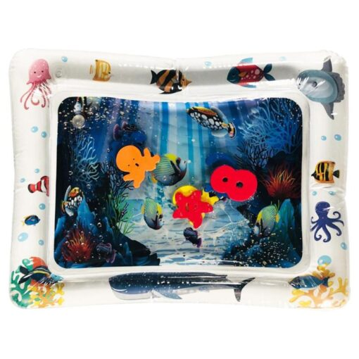 4 Designs Baby Kids Water Play Mat Inflatable Infant Tummy Time Playmat Toddler for Baby Fun