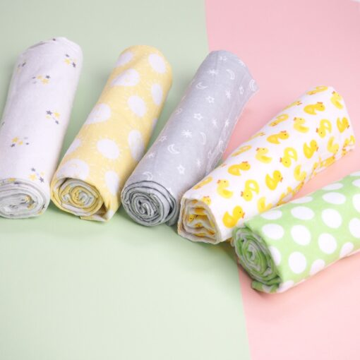 4 Pcs Lot 100 Cotton Flannel Receiving Baby Blanket Soft Baby Muslin Diapers Newborn Swaddle Blanket 2