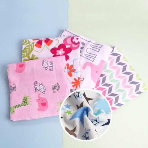 4 Pcs Lot Baby Blankets Newborn Muslin 100 Cotton Flannel Muslin Diapers Baby Swaddle For Photography 3