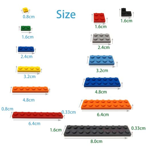 400pcs DIY Building Blocks Figure Bricks Smooth 1x1 24Color Educational Creative Size Compatible With lego Toys 3